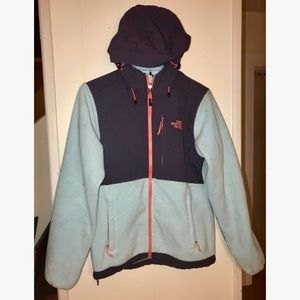 Adult Small Light Blue North Face with hood